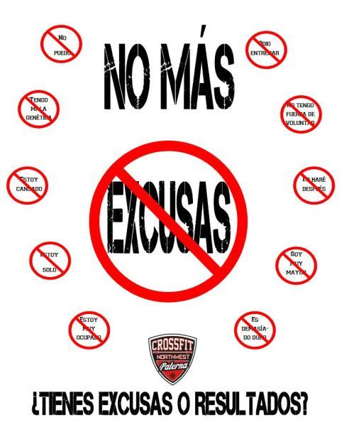 NO MAS EXCUSAS