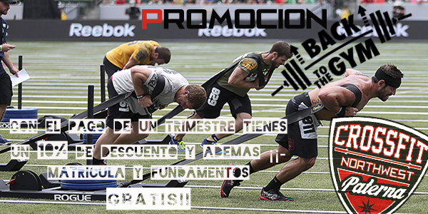 "Promoción ""Back to the Gym"""